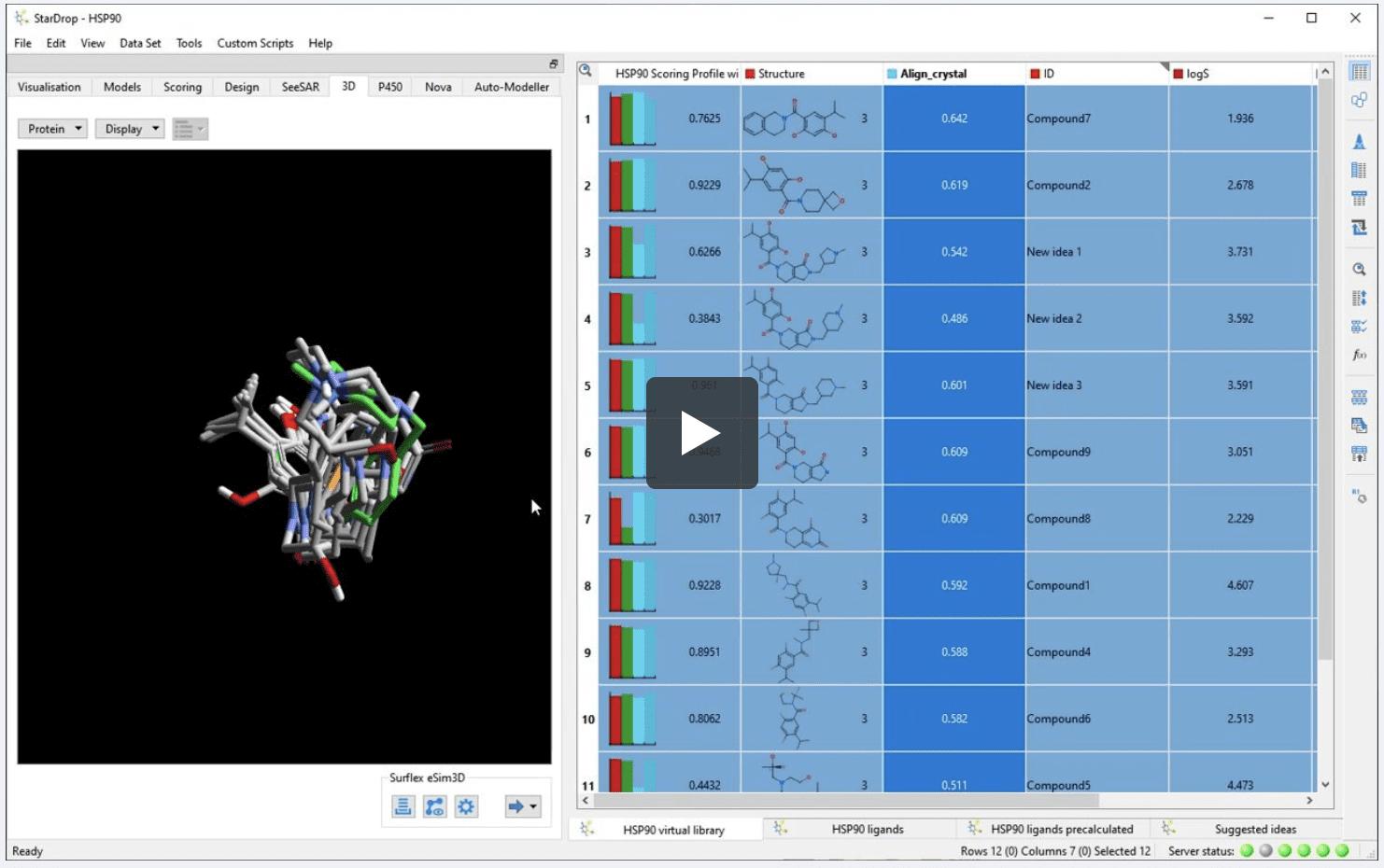 Ligand-based drug design using Surflex eSim 3D
